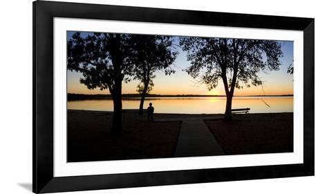 Sunset over Pomona Reservoir at Pomona State Park, Vassar, Osage County, Kansas, Usa--Framed Art Print