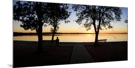 Sunset over Pomona Reservoir at Pomona State Park, Vassar, Osage County, Kansas, Usa--Mounted Photographic Print