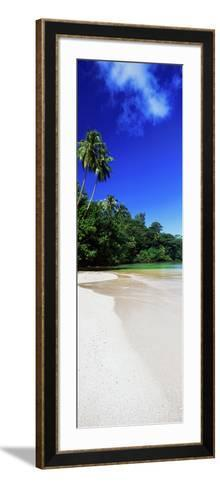 Palm Trees on the Beach, Tahiti, French Polynesia--Framed Art Print