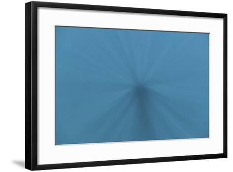 Beams of Sunlight Descend into Deep Water in the Pacific Ocean-Stocktrek Images-Framed Art Print