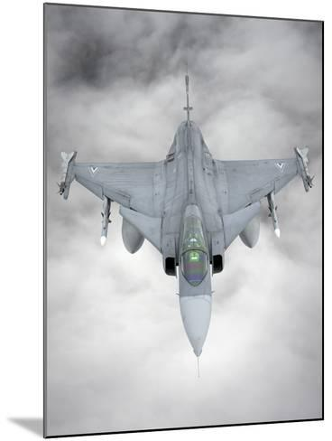 A Hungarian Air Force Jas-39 Gripen over Lithuania-Stocktrek Images-Mounted Photographic Print
