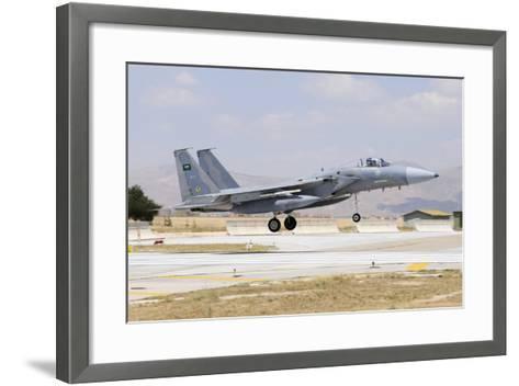 A Royal Saudi Air Force F-15C Eagle Landing on the Runway-Stocktrek Images-Framed Art Print