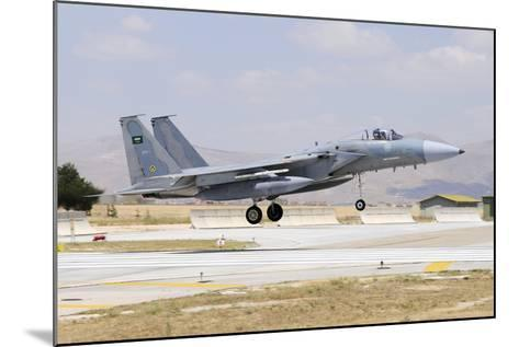 A Royal Saudi Air Force F-15C Eagle Landing on the Runway-Stocktrek Images-Mounted Photographic Print