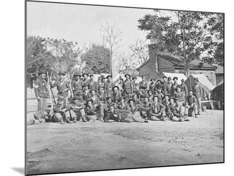 Group Photo of the 44th Indiana Infantry During the American Civil War-Stocktrek Images-Mounted Photographic Print