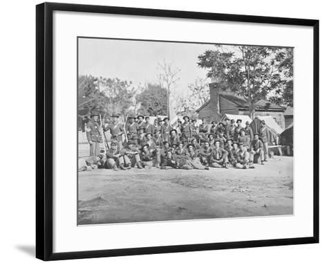 Group Photo of the 44th Indiana Infantry During the American Civil War-Stocktrek Images-Framed Art Print