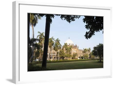 Exterior of Prince of Wales Museum, Mumbai (Bombay), India, South Asia-Ben Pipe-Framed Art Print