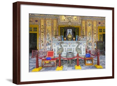 Interior of Tomb of Khai Dinh (Lang Khai Dinh), Thua Thien-Hue Province, Vietnam-Jason Langley-Framed Art Print