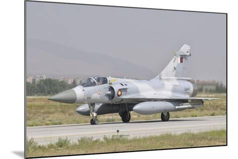 A Qatar Emiri Air Force Mirage 2000 Taxiing on the Runway-Stocktrek Images-Mounted Photographic Print