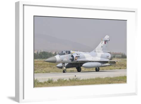 A Qatar Emiri Air Force Mirage 2000 Taxiing on the Runway-Stocktrek Images-Framed Art Print