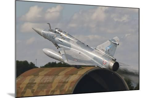 A French Air Force Mirage 2000C Taking Off in Spain-Stocktrek Images-Mounted Photographic Print
