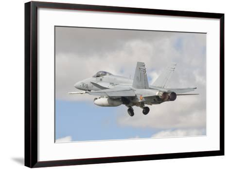 A Spanish Air Force F/A-18C During Tlp in Spain-Stocktrek Images-Framed Art Print
