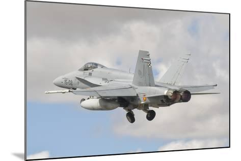 A Spanish Air Force F/A-18C During Tlp in Spain-Stocktrek Images-Mounted Photographic Print