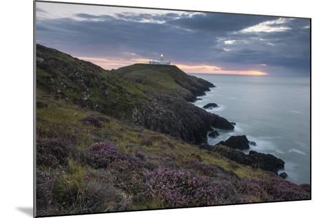 Strumble Head Lighthouse at Dusk, Pembrokeshire Coast National Park, Wales, United Kingdom, Europe-Ben Pipe-Mounted Photographic Print