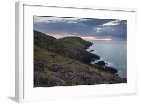 Strumble Head Lighthouse at Dusk, Pembrokeshire Coast National Park, Wales, United Kingdom, Europe-Ben Pipe-Framed Art Print