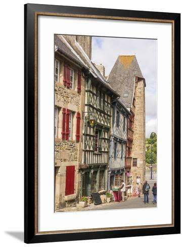 Half Timbered Houses, Old Town, Treguier, Cotes D'Armor, Brittany, France, Europe-Guy Thouvenin-Framed Art Print