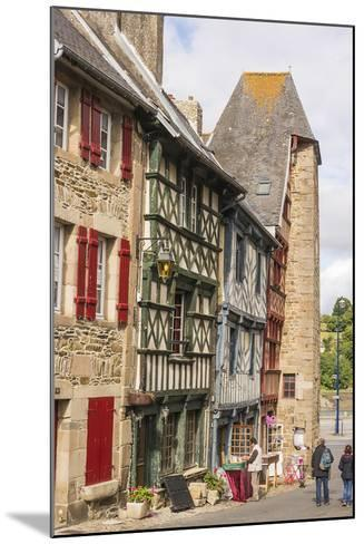 Half Timbered Houses, Old Town, Treguier, Cotes D'Armor, Brittany, France, Europe-Guy Thouvenin-Mounted Photographic Print