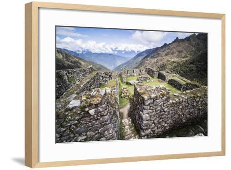 Sayacmarca (Sayaqmarka) Inca Ruins, Inca Trail Trek Day 3, Cusco Region, Peru, South America-Matthew Williams-Ellis-Framed Art Print