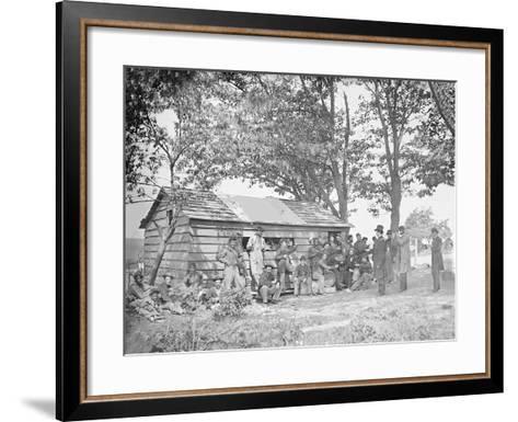 Camp Scene at a Sutler's Store During American Civil War-Stocktrek Images-Framed Art Print