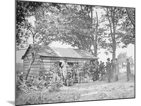 Camp Scene at a Sutler's Store During American Civil War-Stocktrek Images-Mounted Photographic Print