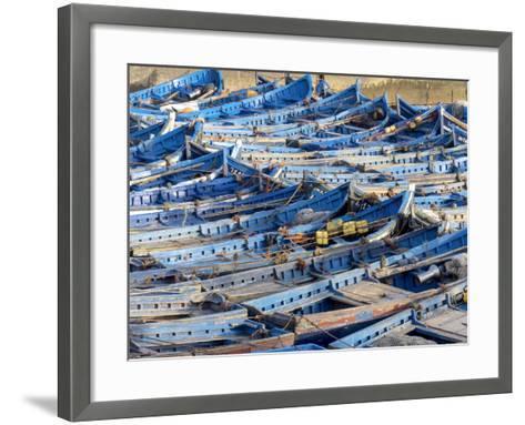 Morocco, Essaouira Fishing Port-Charles Bowman-Framed Art Print