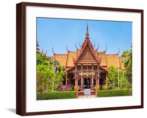 National Museum of Cambodia, Phnom Penh, Cambodia, Indochina, Southeast Asia, Asia-Jason Langley-Framed Art Print