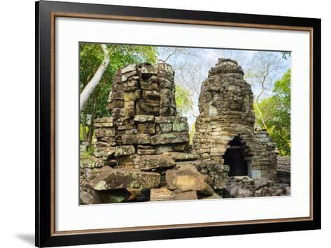 Banteay Chhmar, Ankorian-Era Temple Ruins, Banteay Meanchey Province, Cambodia, Indochina-Jason Langley-Framed Art Print