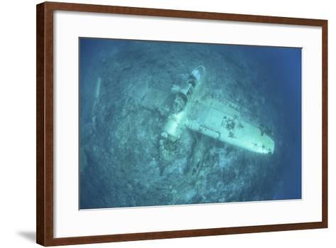 A Japanese Jake Seaplane on the Seafloor of Palau's Lagoon-Stocktrek Images-Framed Art Print