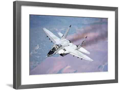 A Bulgarian Air Force Mig-29S During a Training Mission over Bulgaria-Stocktrek Images-Framed Art Print
