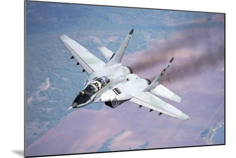 A Bulgarian Air Force Mig-29S During a Training Mission over Bulgaria-Stocktrek Images-Mounted Photographic Print