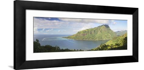 Opunohu Bay, Mo'Orea, Society Islands, French Polynesia, South Pacific, Pacific-Ian Trower-Framed Art Print