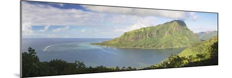 Opunohu Bay, Mo'Orea, Society Islands, French Polynesia, South Pacific, Pacific-Ian Trower-Mounted Photographic Print