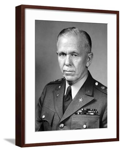 World War Ii Portrait of General George Marshall-Stocktrek Images-Framed Art Print
