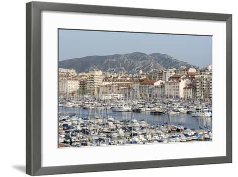 The Old Port of Marseille (Vieux Port) in Marseille, Mediterranean-Chris Hepburn-Framed Art Print