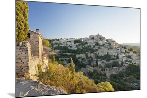 Hilltop Village of Gordes with Castle and Church at Sunrise, Provence-Alpes-Cote D'Azur, France-Markus Lange-Mounted Photographic Print