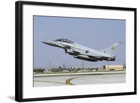A Royal Air Forcetyphoon Fgr4 Taking Off from Konya Air Base, Turkey-Stocktrek Images-Framed Art Print