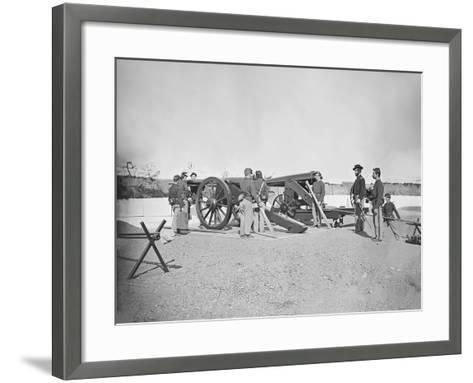 Artillery Drill in Fort During the American Civil War-Stocktrek Images-Framed Art Print