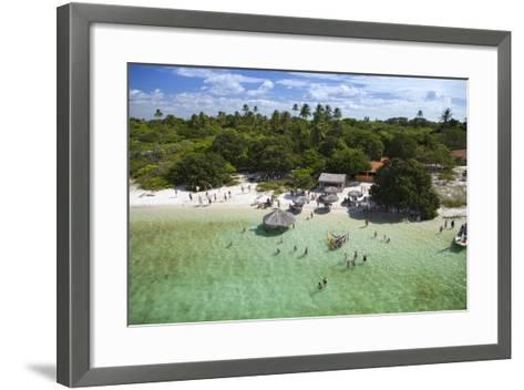Aerial of Lake Near Jericoacoara, Ceara, Brazil, South America-Alex Robinson-Framed Art Print