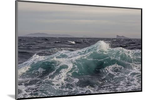 High Winds and Heavy Seas on Approach to the New Island Nature Reserve, Falkland Islands-Michael Nolan-Mounted Photographic Print