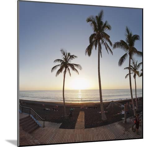 Beach of Puerto Naos at Sunset, La Palma, Canary Islands, Spain, Europe-Markus Lange-Mounted Photographic Print
