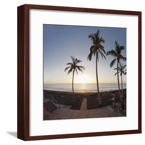 Beach of Puerto Naos at Sunset, La Palma, Canary Islands, Spain, Europe-Markus Lange-Framed Art Print