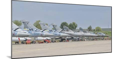 French Air Force and Royal Saudi Air Force Planes on the Flight Line-Stocktrek Images-Mounted Photographic Print