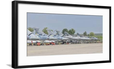 French Air Force and Royal Saudi Air Force Planes on the Flight Line-Stocktrek Images-Framed Art Print