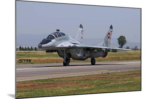 A Bulgarian Air Force Mig-29Ub Fulcrum Taxiing-Stocktrek Images-Mounted Photographic Print