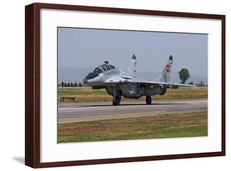 A Bulgarian Air Force Mig-29Ub Fulcrum Taxiing-Stocktrek Images-Framed Art Print