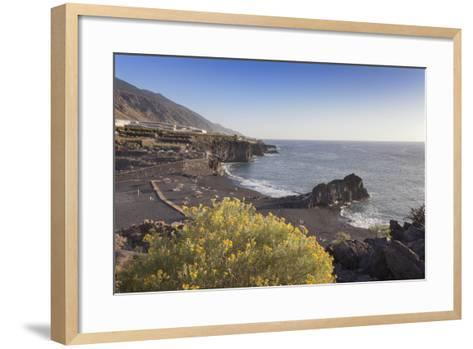 Playa De Charco Verde, Puerto Naos, La Palma, Canary Islands, Spain, Europe-Markus Lange-Framed Art Print