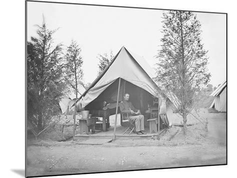 Officer in Tent During American Civil War-Stocktrek Images-Mounted Photographic Print