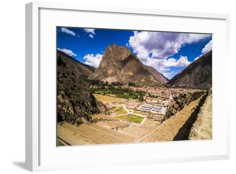 Inca Ruins of Ollantaytambo, Sacred Valley of the Incas (Urubamba Valley), Near Cusco, Peru-Matthew Williams-Ellis-Framed Art Print