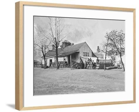 Commissary Headquarters, Rocky Face Ridge, Georgia, During the American Civil War-Stocktrek Images-Framed Art Print