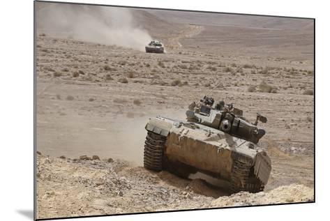 A Merkava Iii Main Battle Tank in the Negev Desert, Israel-Stocktrek Images-Mounted Photographic Print