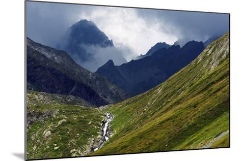 Mountain Scenery in the Unterengadin, Engadine, Graubunden, Switzerland, Europe-Christian Kober-Mounted Photographic Print